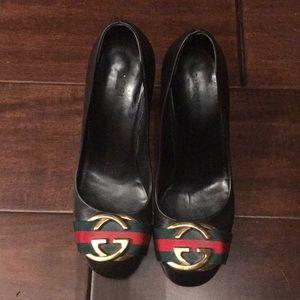 Gucci web pumps 36.5 heels
